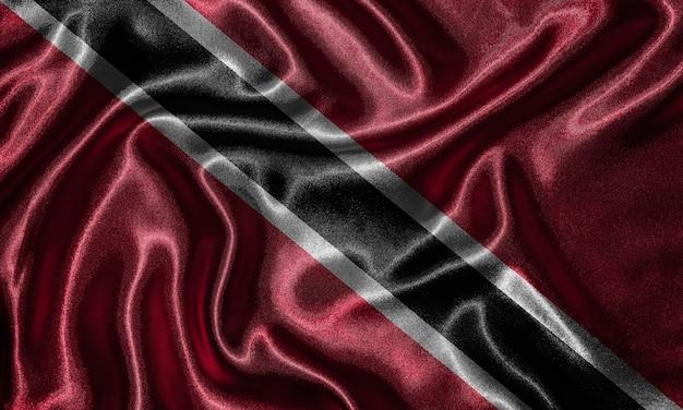 Fond d'écran par drapeau de trinité-et-tobago et agitant le drapeau par tissu.