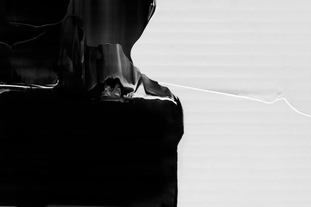 Fond d'écran peint texturé, art abstrait en noir et blanc