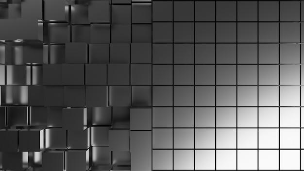 Fond d'écran de rendu 3d generate silver box comparer
