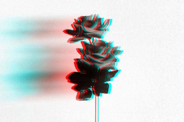 Fond d'écran rose anaglyphe 3d