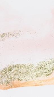 Fond d'écran de téléphone féminin rose pailleté d'or