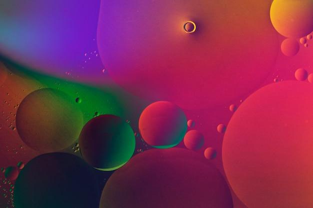 Fond d'écran de texture de bulle d'huile de fond coloré