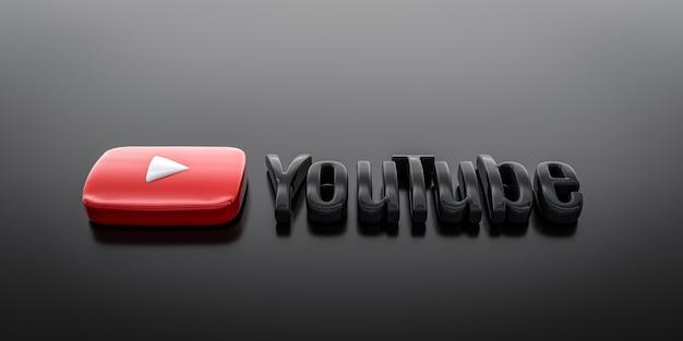 Fond d'écran youtube logo 3d téléchargement gratuit