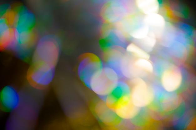 Fond effet bokeh grand arc-en-ciel multicolore