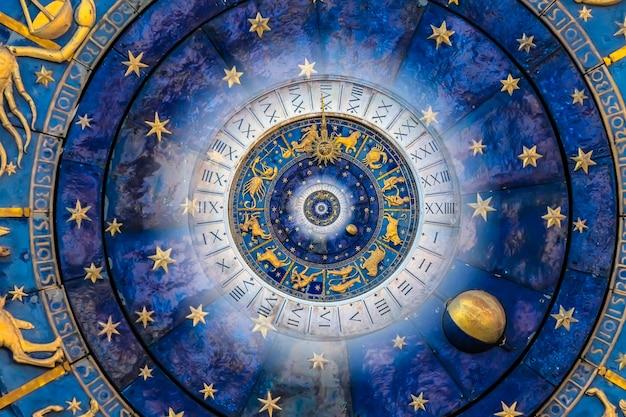 Fond d'effet droste. conception abstraite pour les concepts liés à l'astrologie et à la fantaisie.