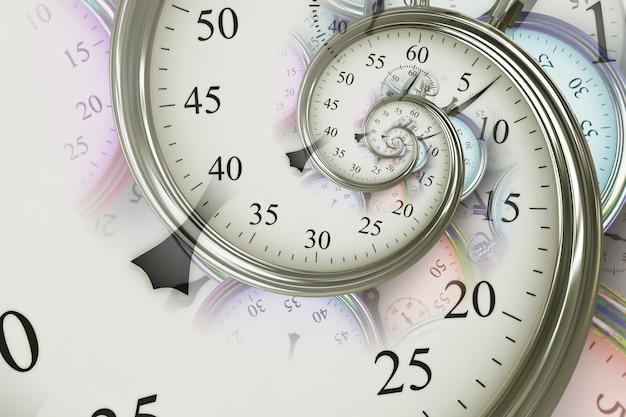 Fond d'effet droste. conception abstraite pour les concepts liés au temps, à la date limite et aux affaires.