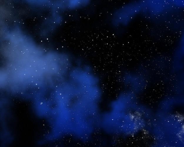 Fond d'espace abstrait avec nébuleuse et étoiles