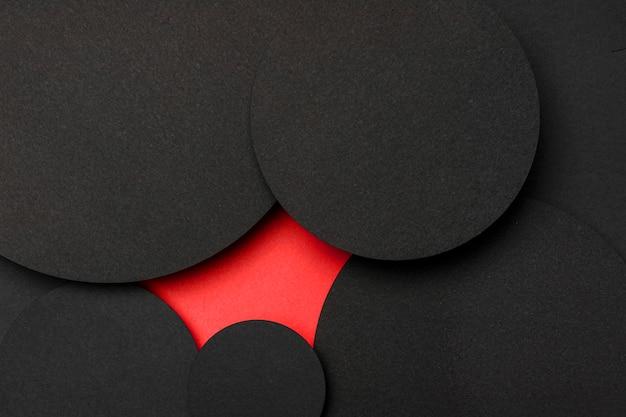 Fond d'espace copie circulaire et tache rouge