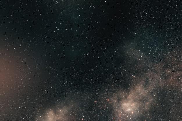 Fond de l'espace, vol dans l'espace parmi les milliards d'étoiles nébuleuses et galaxies illustration 3d