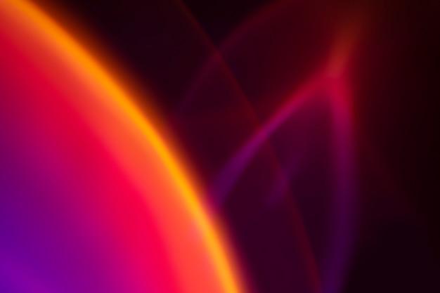 Fond esthétique avec effet de lumière led néon dégradé
