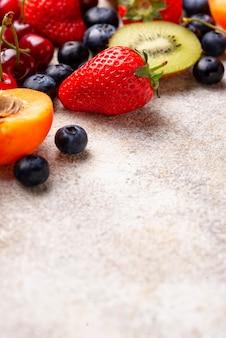 Fond d'été fruits et baies