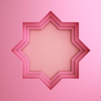 Fond d'étoile de fenêtre papercut islamique