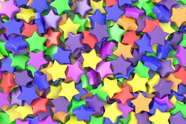 Fond d'étoiles colorées