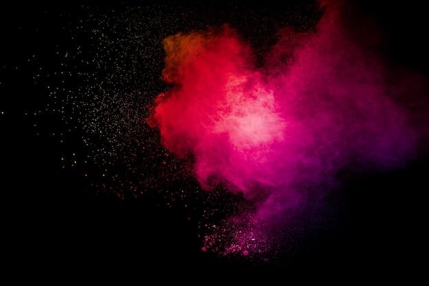 Fond d'explosion de poudre rose