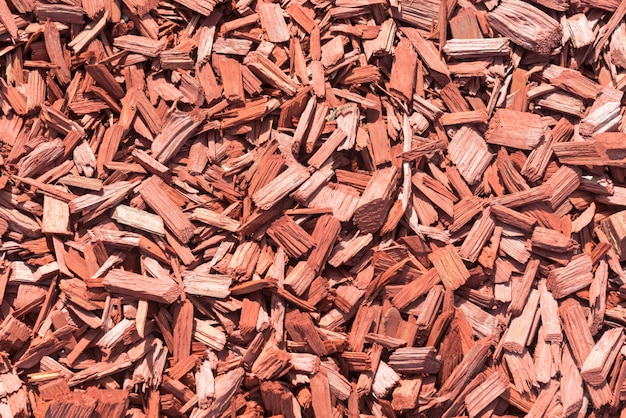 Fond fait de copeaux de bois marron