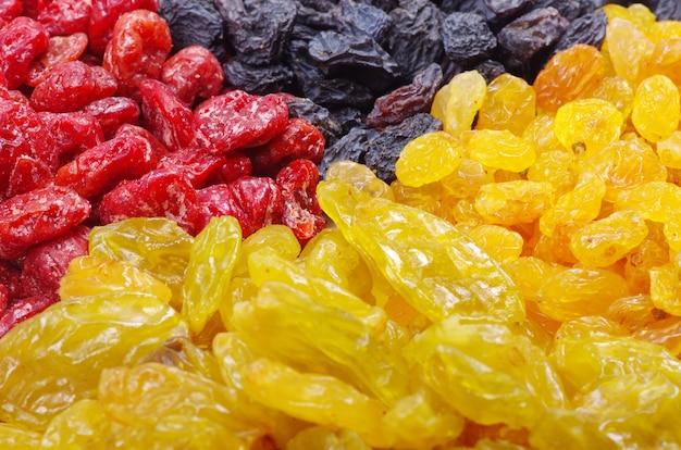 Fond fait de fruits secs assortis