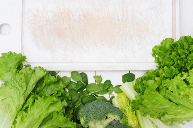 Fond fait de légumes, concept d'aliments sains