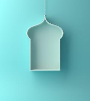 Fond de fenêtre bleu islamique