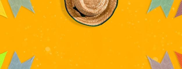 Fond de fête de juin brésilien, format extérieur.