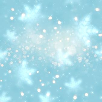 Fond de fête de noël avec des lumières bokeh et des étoiles