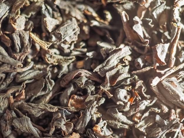 Fond de feuilles de thé en vrac