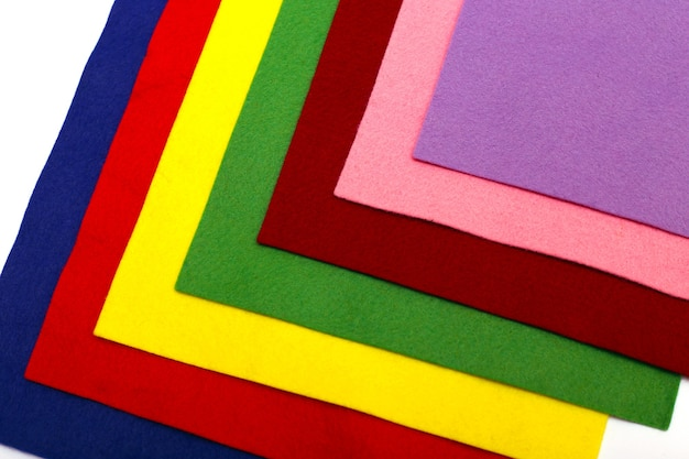 Fond de feutre multicolore