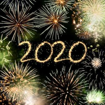 Fond de feux d'artifice 2020 nouvel an