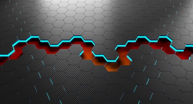 Fond de fibre de carbone 3d