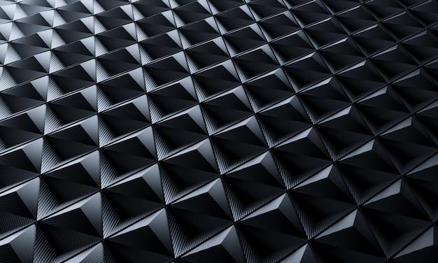 Fond de fibre de carbone triangle