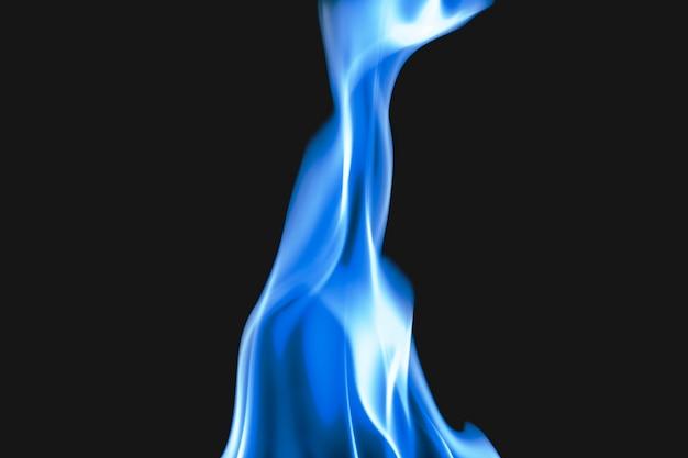 Fond de flamme bleue, image sombre réaliste de feu