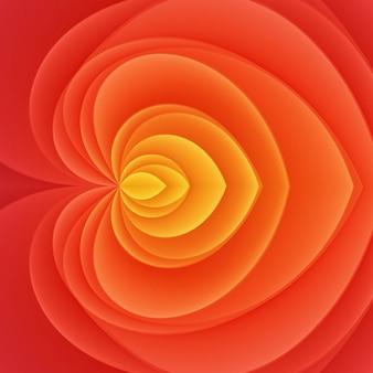 Fond de fleur abstraite de couleur rouge rose jaune