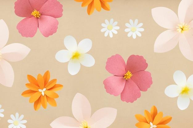 Fond de fleur d'artisanat en papier coloré