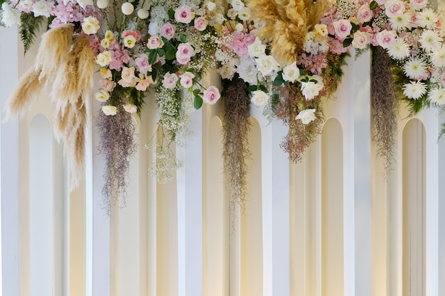 Fond fleur, fond coloré, rose fraîche, mariage en toile de fond, bouquet de fleurs
