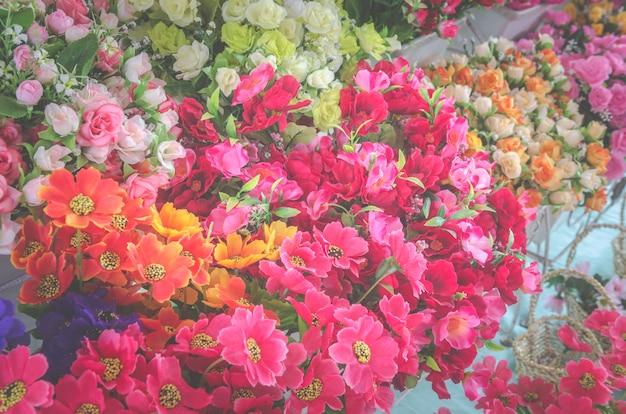 Fond de fleur rose pour la saint-valentin, image de filtre vintage
