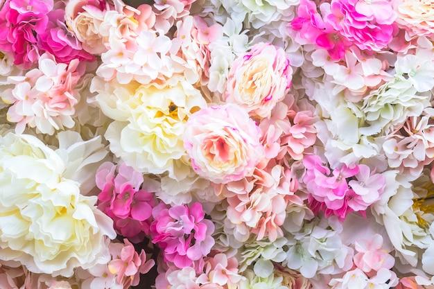 Fond de fleurs artificielles