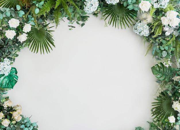 Fond de fleurs de mariage