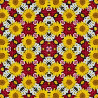 Fond de fleurs pour papier d'emballage, couvertures, tissu