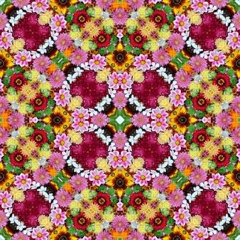Fond de fleurs sans soudure, vue de dessus.