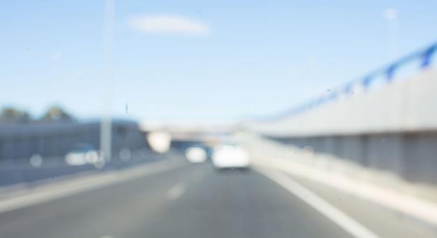 Fond flou. concept de route