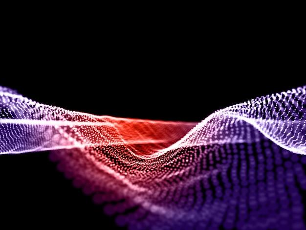 Fond de flux de particules abstraites 3d