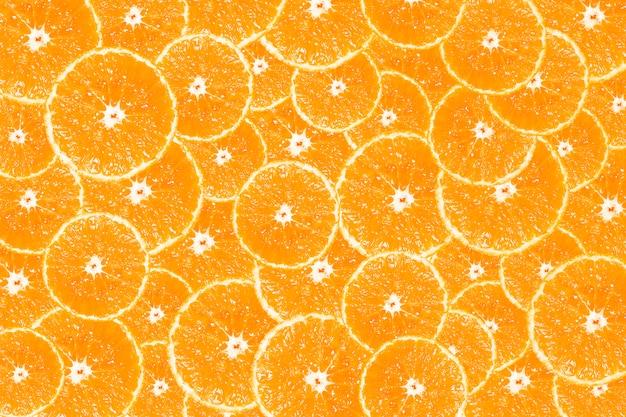 Fond de fond de tranches d'orange fraîche