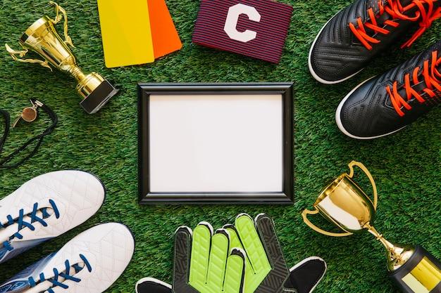Fond de football avec cadre
