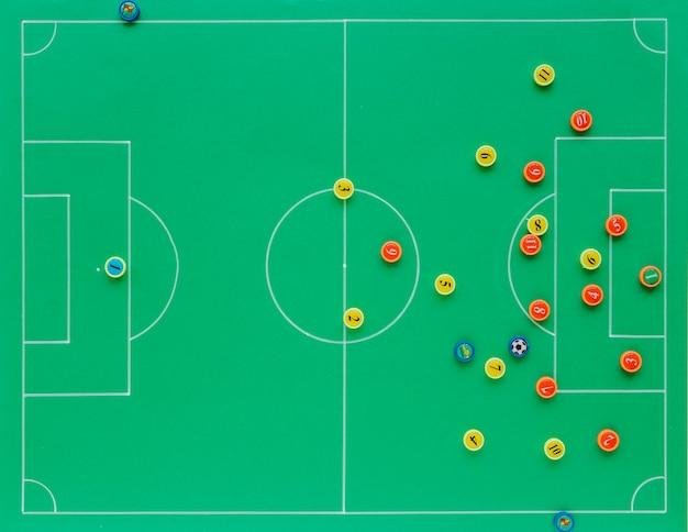 Fond de football avec le concept de tactiques