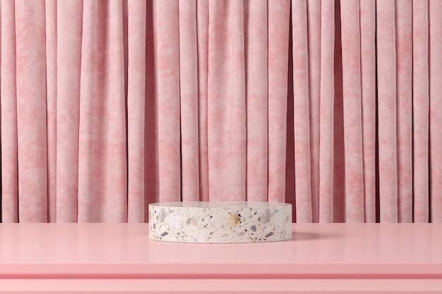 Fond de forme géométrie abstraite. scène minimaliste podium