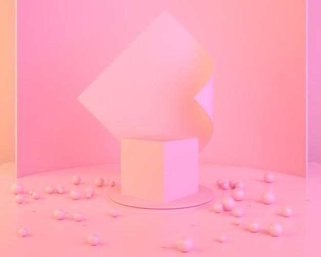 Fond de forme géométrique abstrait couleur rose