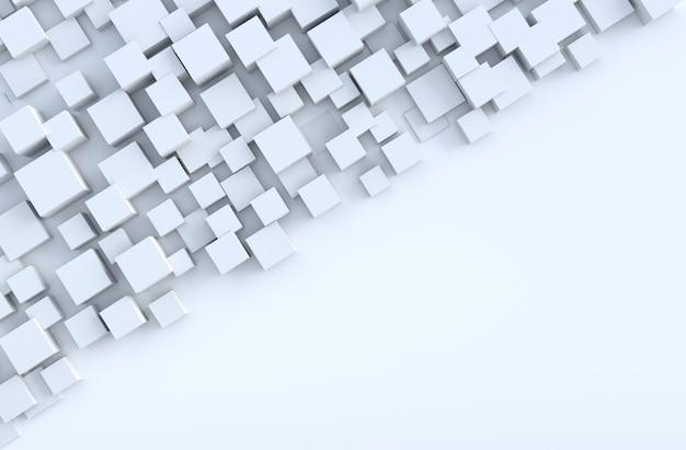 Fond de formes de cube géométrique blanc