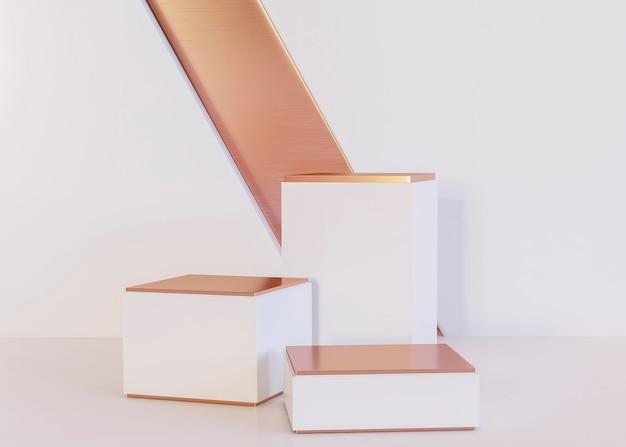 Fond de formes géométriques de rendu 3d