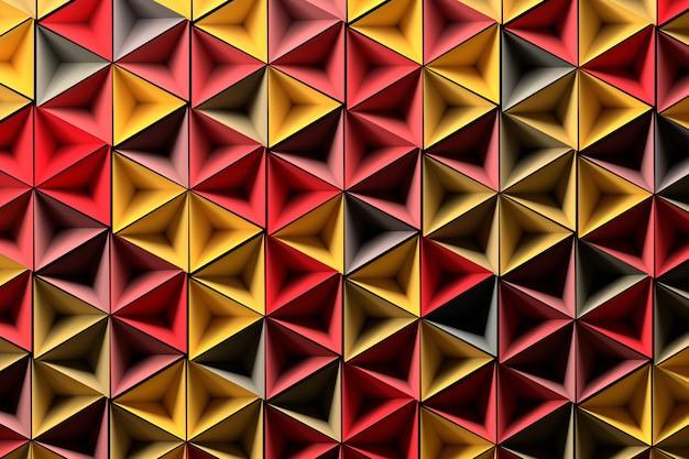 Fond avec des formes géométriques rouges jaunes aléatoires