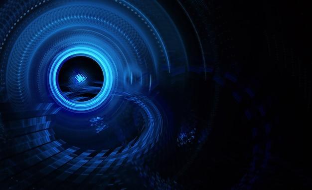 Fond fractal à utiliser dans les projets de créativité et de conception. fractale technologique. illustration 3d abstraite