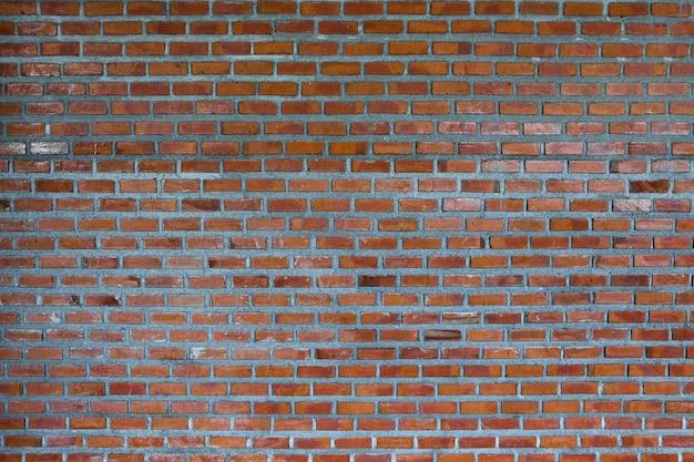 Fond de fragment de mur de brique rouge ou brique